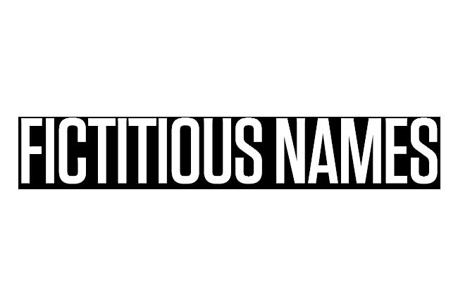 Fictitious Names